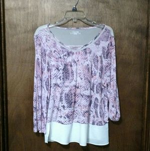 3 for $15/Calvin Klein 3/4 sleeve blouse